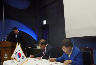 SIGNING COOPERATION AGREEMENT BETWEEN SHINHAN UNIVERSITY & IUFS